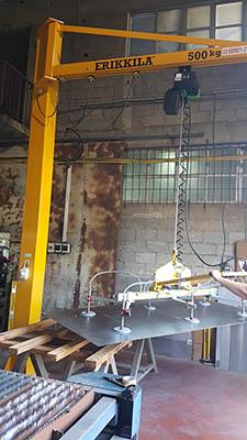 מתקן הרמה בואקום להרמת פחים