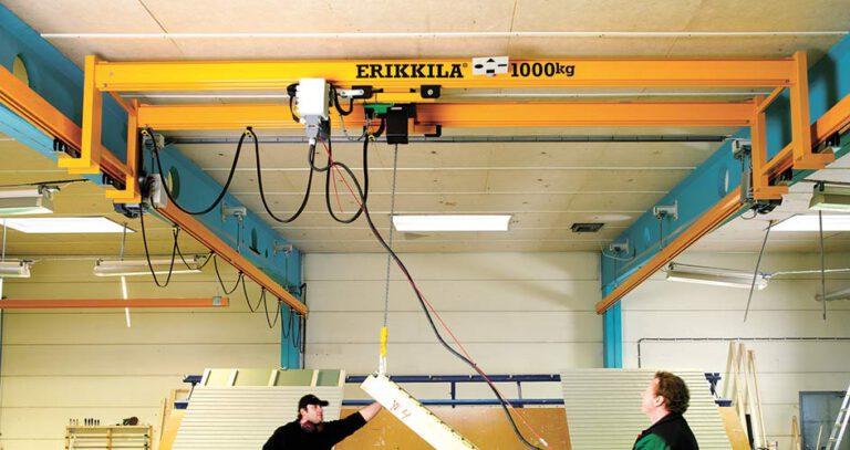 עגורן גשר במבנה מקוצר ERIKKIA | לירז הנדסה